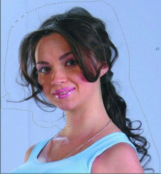 2.Создание быстрого выделения по контуру волос