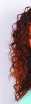 1.Исходное фото кудрявых и пушистых волос