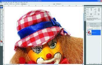 Нужно вырезать шляпу клоуна?